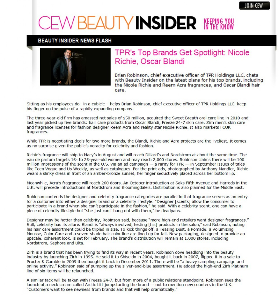 July 3, 2012 – CEW Beauty Insider