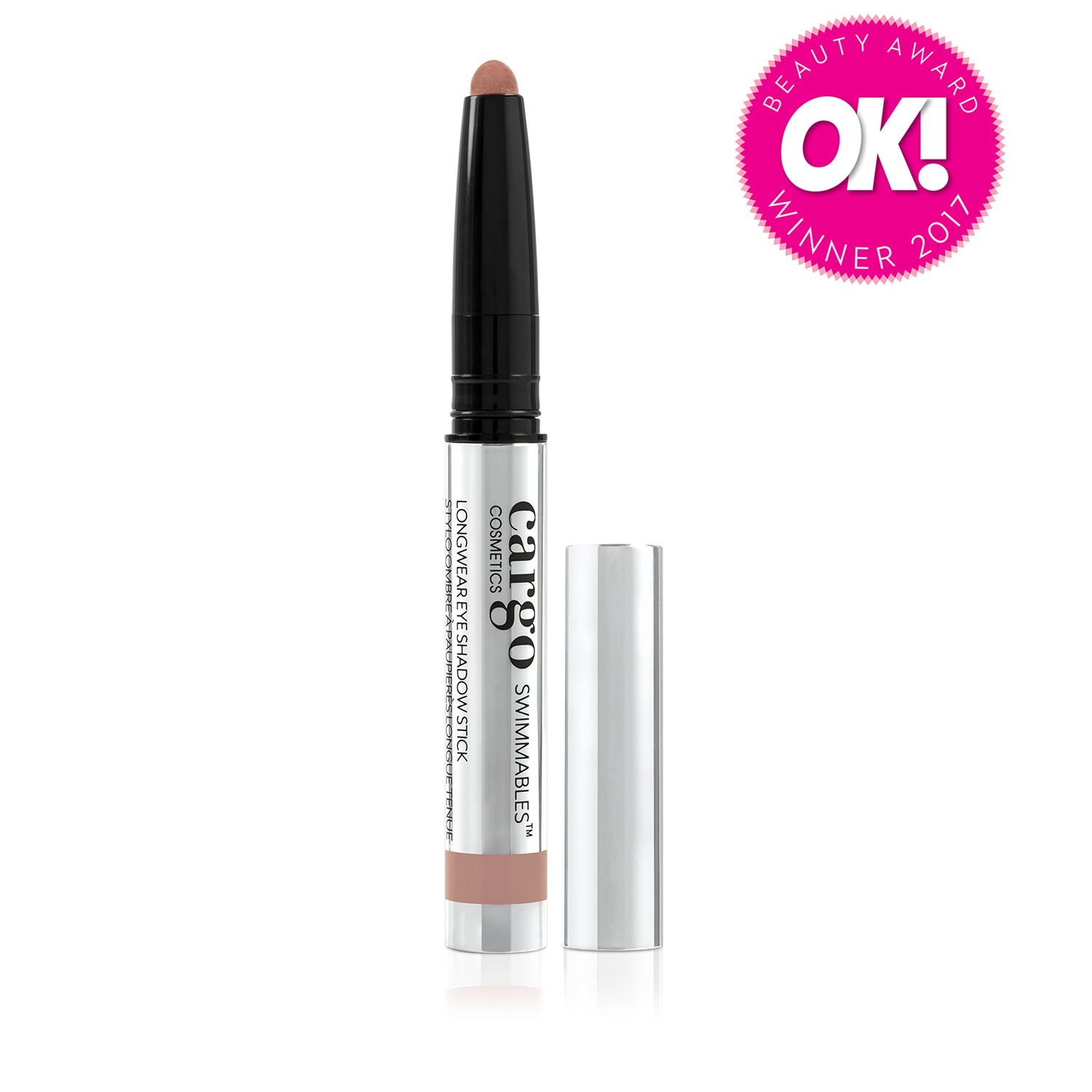 CARGO COSMETICS SWIMMABLES LONGWEAR EYE SHADOW STICKS WIN OK! BEAUTY AWARD